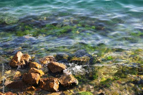 Foto op Plexiglas Kust Rocks on the seashore