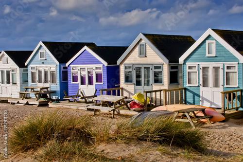 Poster Afrique du Sud Hengistbury Head beach huts near Bournemouth and Christchurch Dorset England
