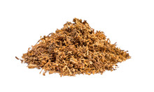 Pile Of Cut Tobacco On White B...