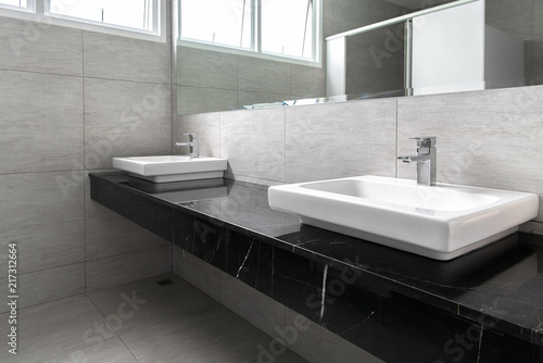 Fotomural Bathroom interior with sink and faucet