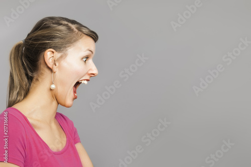 Fotografia, Obraz frightened woman