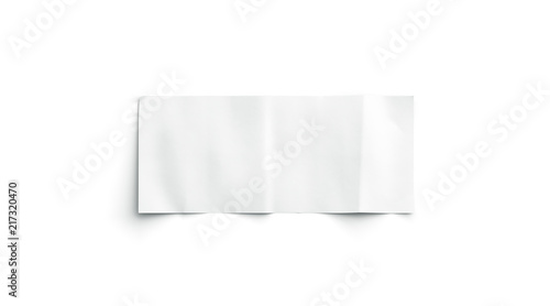 Blank white banknote mockup, isolated, top view, 3d rendering Canvas Print