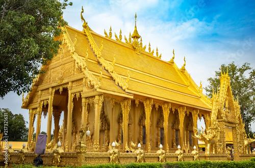 Spoed Foto op Canvas Bedehuis Architecture Thai Temple Public place
