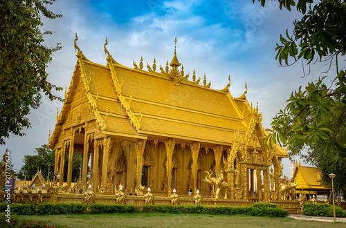 Deurstickers Bedehuis Architecture Thai Temple Public place