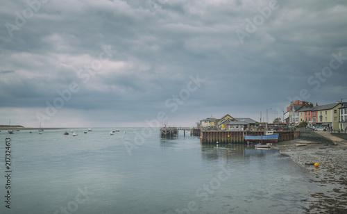 Keuken foto achterwand Poort Harbour of Coastal Town in Wales