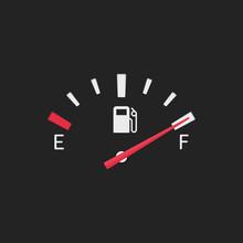 Full Fuel Gauge Icon.