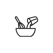 Mixing Ingredients Line Icon. ...