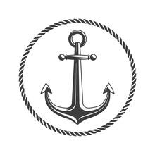Anchor With Circular Rope.