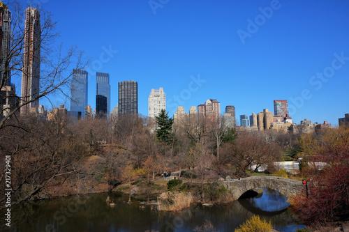 Fotografía  New York City skyline with urban skyscrapers