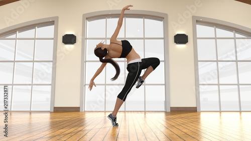Obraz na płótnie Aerobics Dance Class