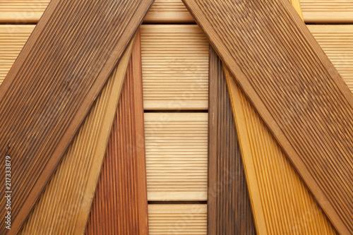Foto decking samples, wooden background