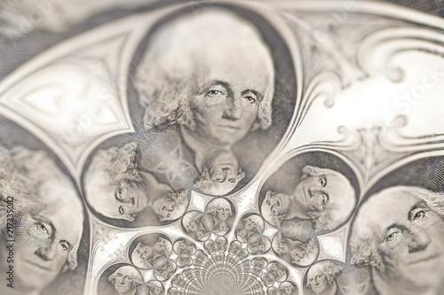 Fotomural Kaleidoscopic Pattern of a Dollar Bill
