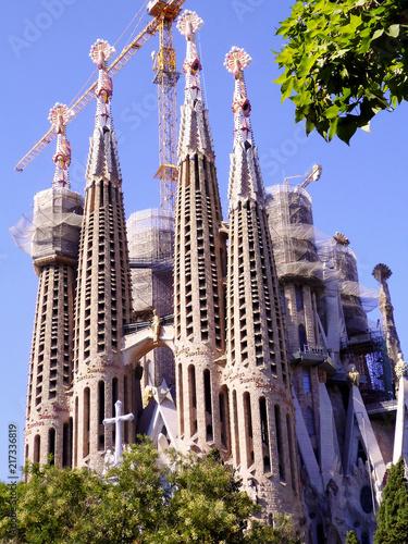 Papiers peints Barcelona Templo Expiatorio de la Sagrada Familia - Barcelona. Cataluña. España. Europa.
