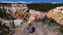 Overlooking The South Rim Of The Grand Canyon Of The Yellowstone River