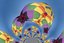 Kaleidoscopic Pattern Of A Hot Air Balloon