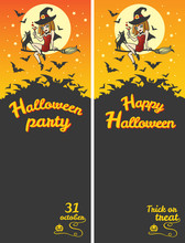 Happy Halloween Vertical Banne...