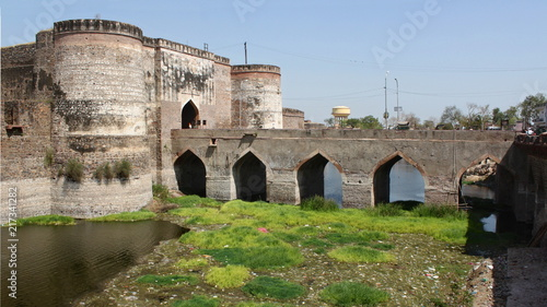 Poster Vestingwerk Fort bridge and Lohiya Gate in Bharatpur, India