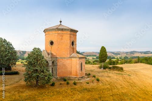 A Chapel (1861) near Siena in Tuscany, Italy Poster