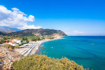 The beach of Agia Galini at the South Crete, Greece