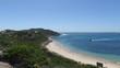 Scenic pan peninsula beach
