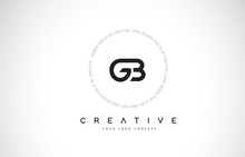 GB G B Logo Design With Black And White Creative Text Letter Vector.