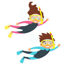 Children In Swim Suits