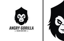 Angry Gorilla Logo Design Temp...