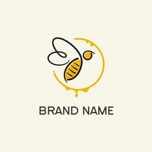 Bee Logo Concept / Abstract Be...