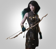 Archer Warrior Woman-3d Render...
