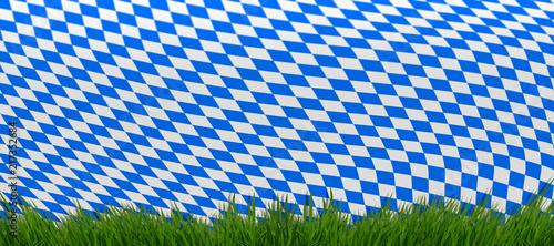 Oktoberfest Hintergrund Bayern Rauten Muster 5