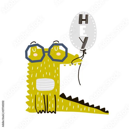 kreskowka-krokodyl-z-balonu-dzieciecy-nadruk-dla-przedszkola-odziezy-dzieciecej-plakatu-pocztowki-ilustracja-wektorowa