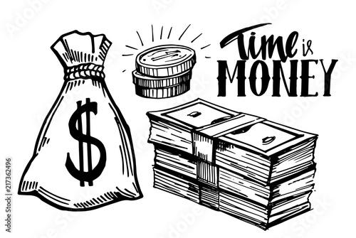 Fototapeta Sketch of money obraz