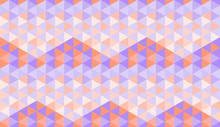 Seamless Pattern With Hexagons Composed Of Purple And Orange Triangles In Dark To Light Shades