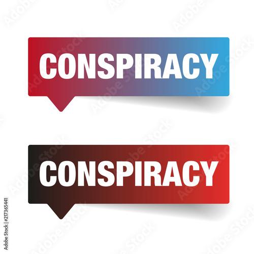 Fotografie, Obraz  Conspiracy sign speech bubble