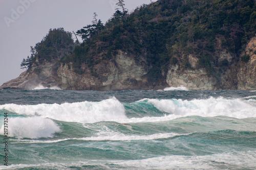 Foto auf Gartenposter Wasser 日本海の波 島根県
