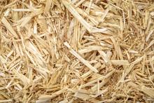 Dry Raw Straw Bale Background