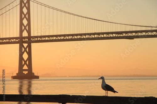 Keuken foto achterwand San Francisco Sunrise at Bay Bridge, San Francisco