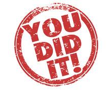 You Did It Success Accomplishment Winner Stamp Illustration