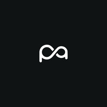 Modern Unique Minimal Style PA Initial Based Letter Icon Logo.