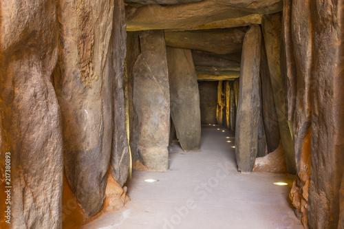 Wallpaper Mural Dolmen de Soto interior. Corridor from entrance, Spain