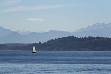 Sailing In Puget Sound With Th...