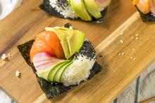 Homemade Trendy Japanese Sushi Donuts