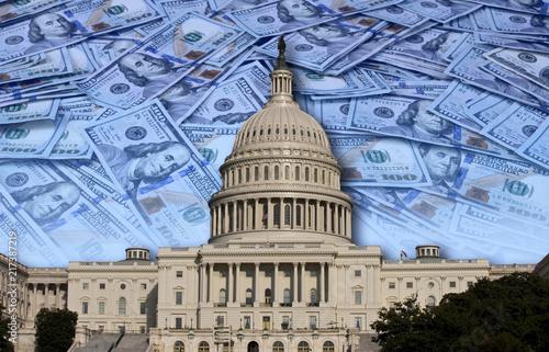Obraz na plátně Congress Spending Your Money.