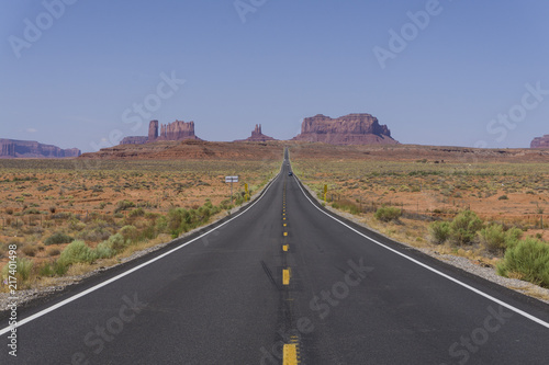 Canvas Prints Route 66 Carretera Monument Valley a la reserva Navajo. Forrest Gump point