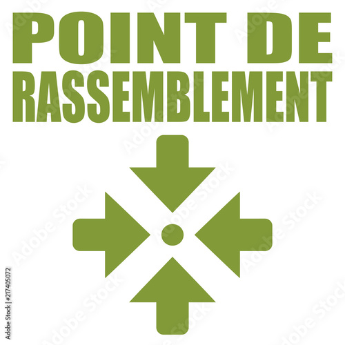 Logo point de rassemblement. Wallpaper Mural
