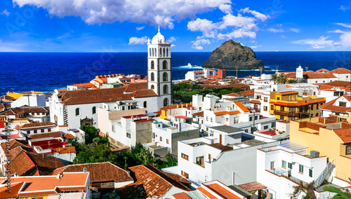 Fotografering  Landmarks of Tenerife- old colonial town Garacico. Canary island