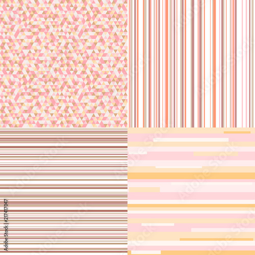 148d7e3d9cfd Set of seamless colored patterns. Pretty pastel colors. Abstract geometric  wallpaper of the surface. Striped backgrounds. Prints for polygraphy