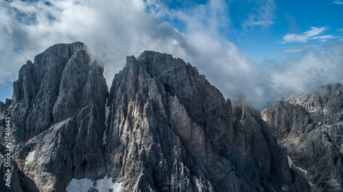 beautiful aerial photographs form the mountains of the Dolomites