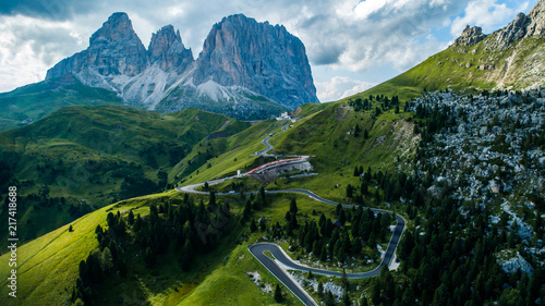 Fotografie, Tablou  beautiful aerial photographs form the mountains of the Dolomites