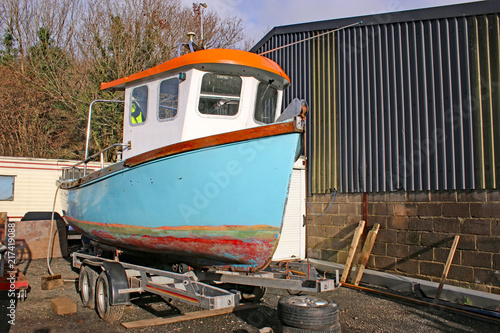Fishing boat in a boatyard